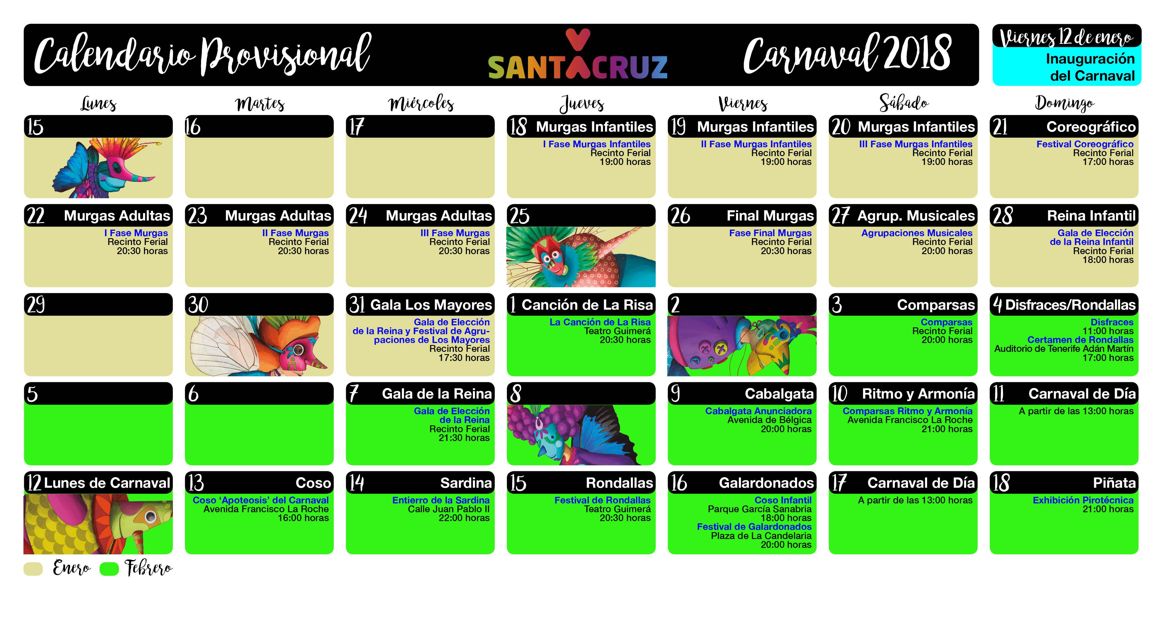 CalendarioProvisional-Carnaval-2018